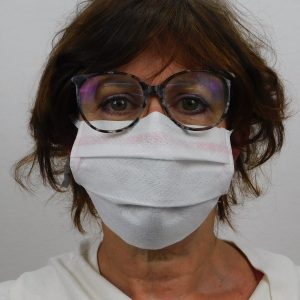 Masque antimicrobien blanc